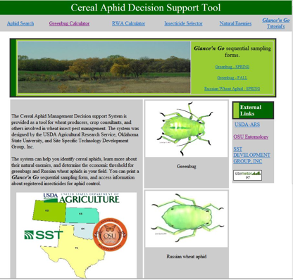 Cereal Aphids Decision Support Tool