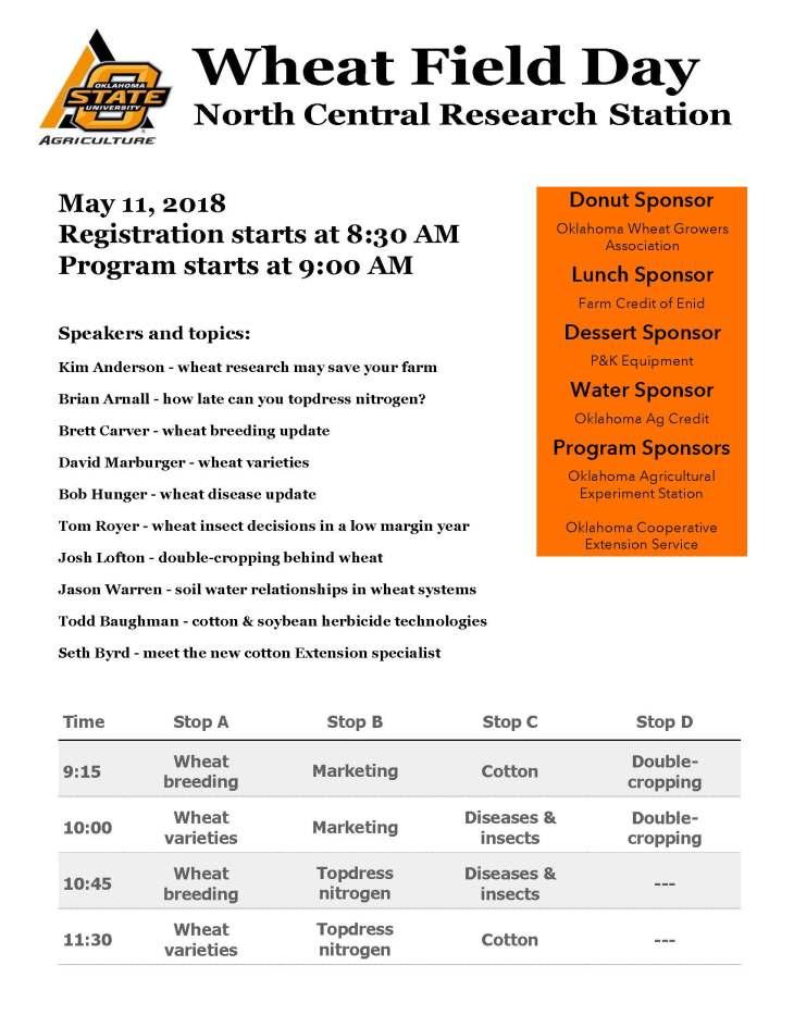 2018 Lahoma program